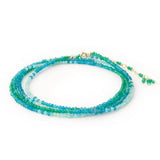 Anne Sportun Green Onyx Apatite and Amazonite Ombre Wrap Bracelet