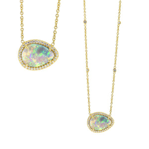 Lauren K Black Opal Necklace - 18k gold