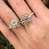 Lauren K Rose Cut Champagne Diamond Flower Ring