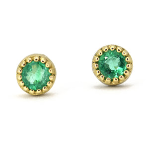 Lauren K Emerald Stud Earrings