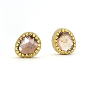 Lauren K Brown Sapphire Stud Earrings