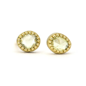 Lauren K Green Sapphire Stud Earrings