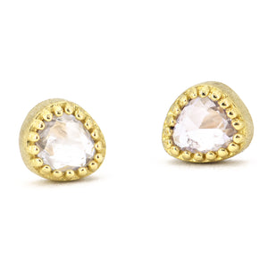 Lauren K White Sapphire Stud Earrings
