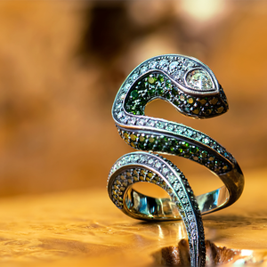 Lord Jewelry Green Snake Ring