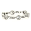 Lord Jewelry 18k White Gold Diamond Band