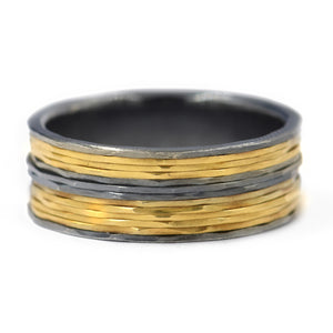 Todd Reed -Men's Rings - Sterling- Gold-Lined Band- Alchemy Jeweler