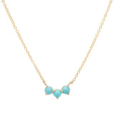 Anne Sportun Trio Crescent Necklace in Turquoise - Alchemy Jeweler - Black Friday Cyber Monday