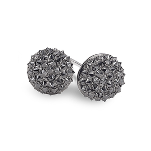 Nam Cho Black Diamond Small Ball Stud Earrings
