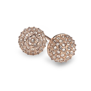 Nam Cho Champagne Diamond Small Ball Stud Earrings