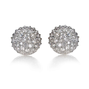 Nam Cho Grey Diamond Small Ball Stud Earrings
