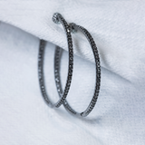 Nam Cho Grey Diamond Pave Hoops