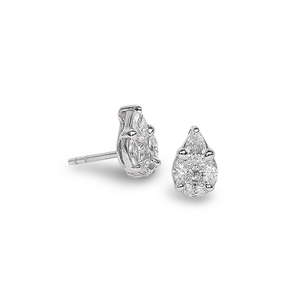 Nam Cho Invisible Pear Studs