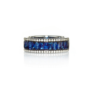 Nam Cho Sapphire Baguette Eternity Band