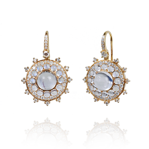 Nam Cho Small Moonstone Bull's Eye Earrings