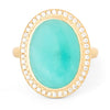 Portland Oregon - Anne Sportun Amazonite Ring - diamond halo 18k yellow gold ring