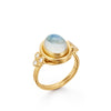Temple St Clair 18K Classic Oval Moonstone Ring