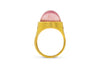 Loren Nicole Tourmaline and Mandarin Garnet Signet Ring in 22k yellow gold