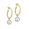 Rudolf Friedmann Tahitian Pearl Hoop Earrings