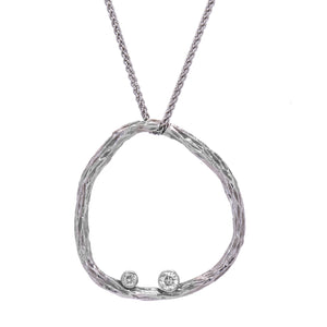 Sarah Graham Pebble Pendant- 18k white gold