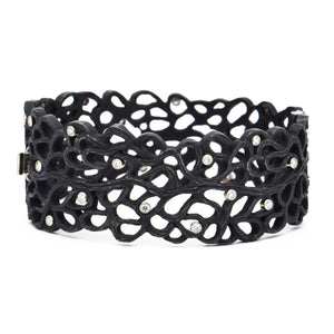 Sarah Graham fine jewelry - Lace Cuff Bracelet - stainless steel and cobalt chrome