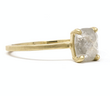 Jennifer Dawes Stormy Grey Rose Cut Diamond Ring - Alternative Bridal