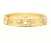Jennifer Dawes - Oregon - Eternity Rose Cut Diamond Wedding Band - 18k gold