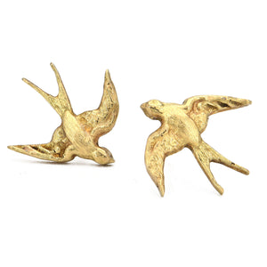 Erica Molinari-Swallow Stud Earrings-18k-yellow gold-Alchemy Jeweler
