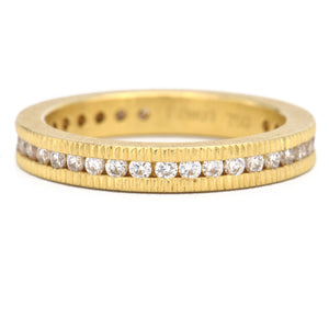 Todd Reed-Diamond Wedding Band-Brilliant Cut Diamond-gold