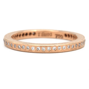 Todd Reed-18k Rose Gold-Diamond Eternity Band - Alchemy Jeweler