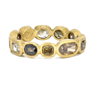Todd Reed-Autumn Fancy Cut Diamond Band in 18k Yellow Gold