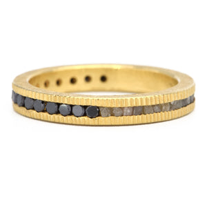 Todd Reed-wedding bands-gold-raw and black diamonds