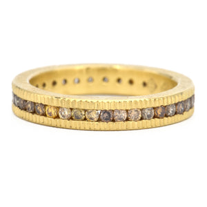 Todd Reed-Autumn-18k-Diamond Band-wedding bands-Alchmey Jeweler