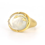Temple St Clair Green Moonstone Vine Ring