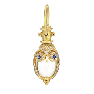Temple St Clair Owl Amulet - Diamonds and Sapphires