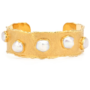 Victor Velyan- Los Angeles Pearl Cuff 18k Yellow Gold