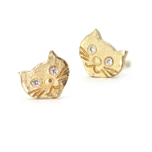 Victoria Cunningham Cat Stud Earrings - Alchemy - Portland Oregon