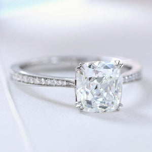 Erika Winters Willa Platinum Old Mine Cut Diamond Ring