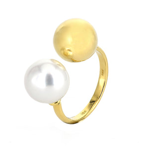 Rudolf Friedmann Pearl and Gold Ring