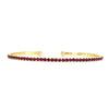 18k Yellow Gold Ruby Bangle Bracelet