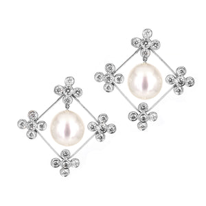 Assael South Sea Pearl Earrings with Diamonds at Alchemy Jeweler