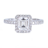 Emerald Cut Diamond Solitaire Ring at Alchemy Jeweler