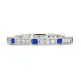 Lord Jewelry 18k Blue Enamel and Diamond Band