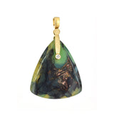 Alex Sepkus Petrified Wood and Opal Pendant