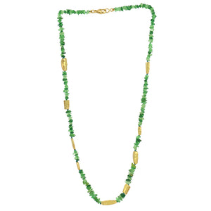 alex sepkus tsavorite garnet necklace with 18k gold faces at alchemy jeweler