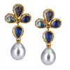 Assael Moonstone & Tahitian Pearl Clip-On Earrings