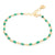 Anne Sportun Gold Tied Bracelet in Green Onyx