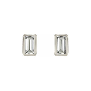 Platinum Diamond Baguette Earrings