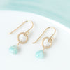 Anne Sportun Heart Gemstone Briolette Earrings in Amazonite