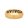 "Erica Molinari ""Live Life Love"" Inscription Ring"