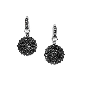 Nam Cho Black Diamond Ball Drop Earrings